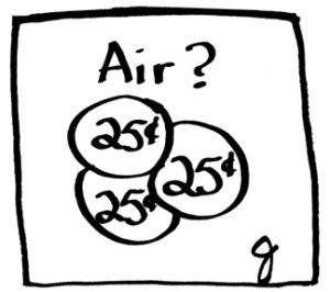 Air is not free. It costs 75 cents
